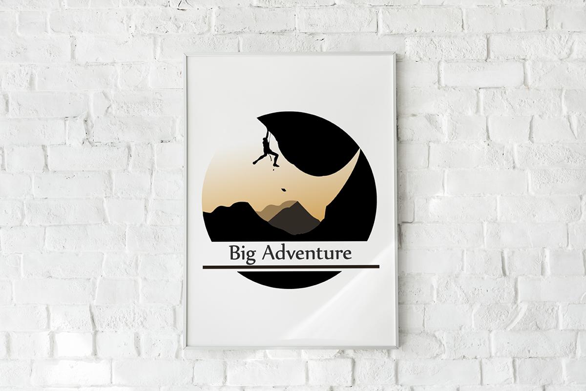 rock climbing poster #1